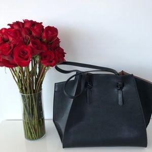 Zara pebbled black handbag
